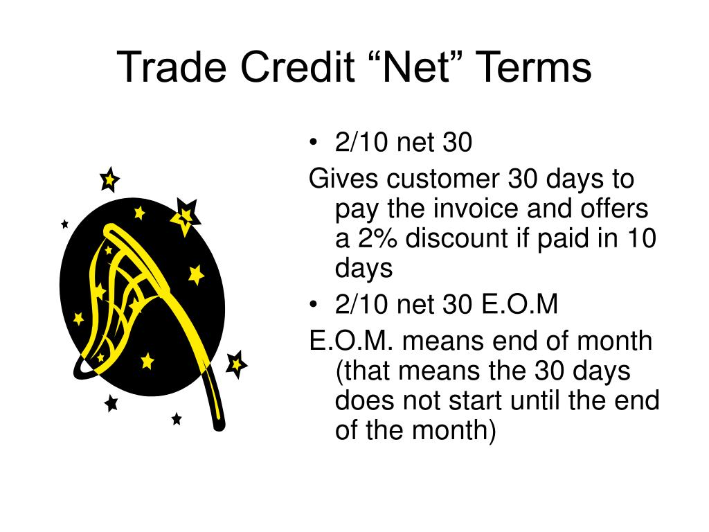 """Trade Credit """"Net"""" Terms"""