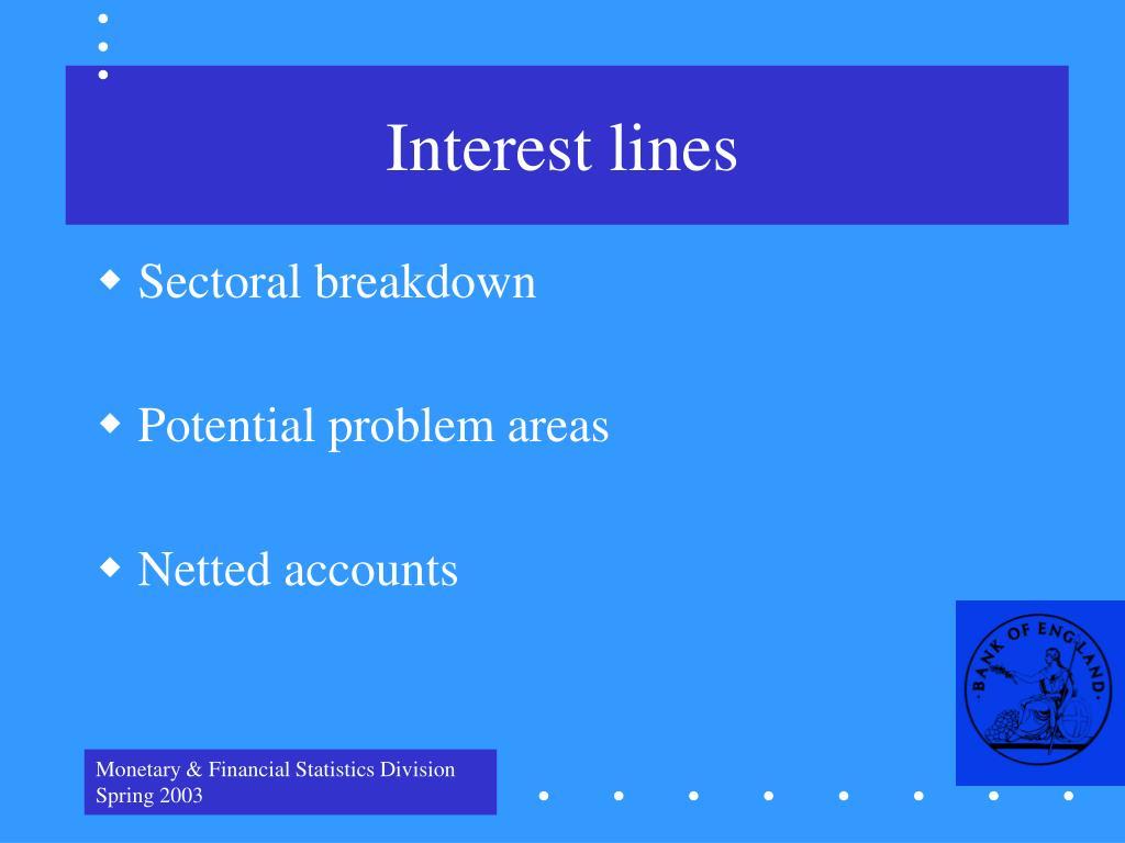 Interest lines
