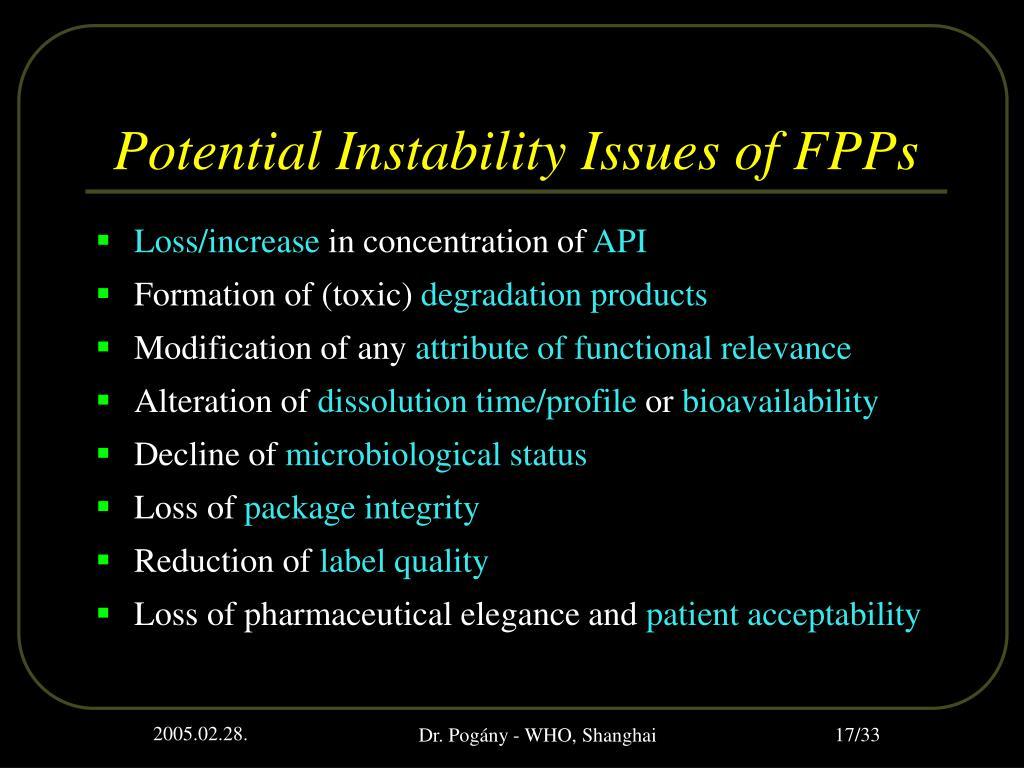 Potential Instability Issues of FPPs