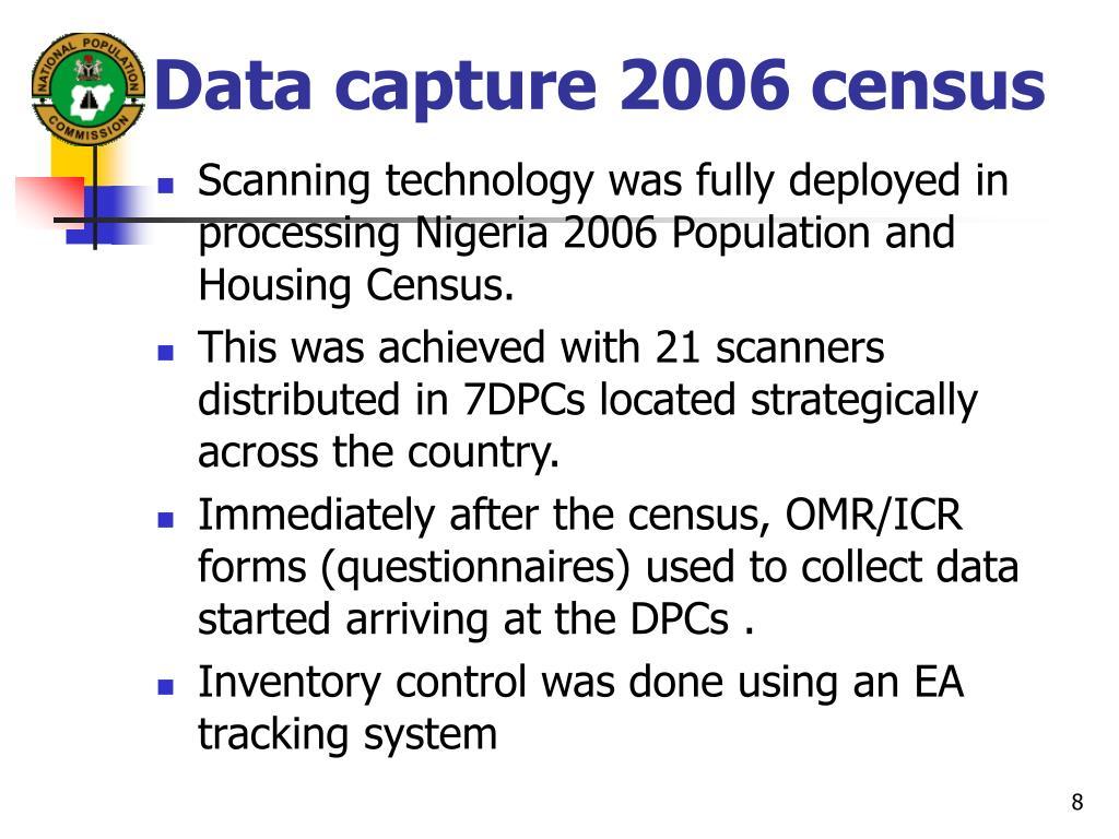 Data capture 2006 census