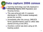 data capture 2006 census