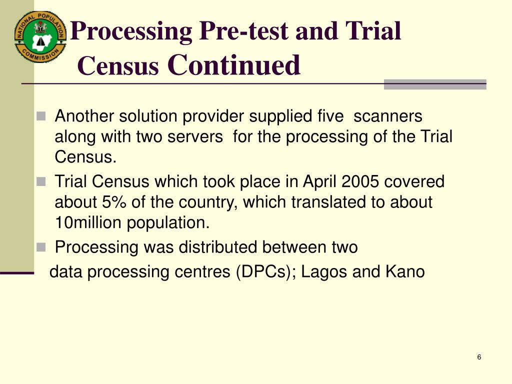 Processing Pre-test and Trial