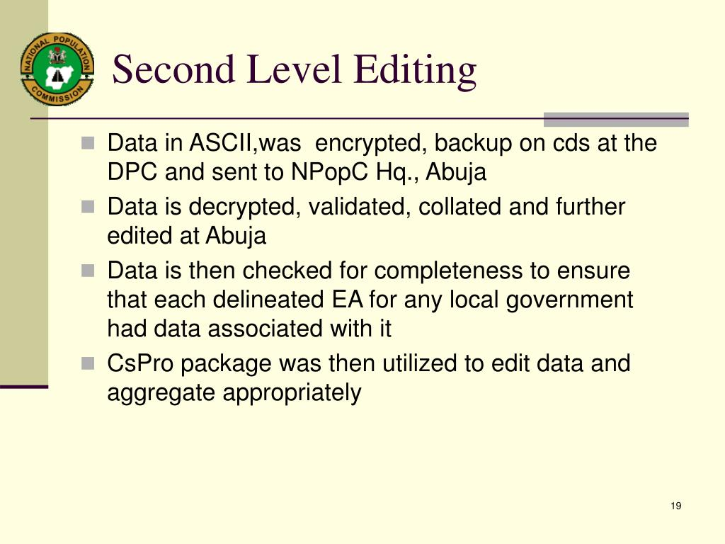 Second Level Editing