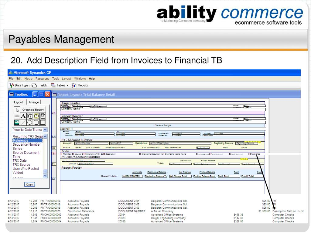 Payables Management