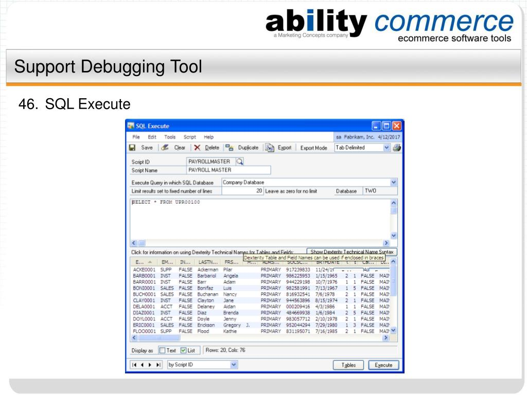Support Debugging Tool