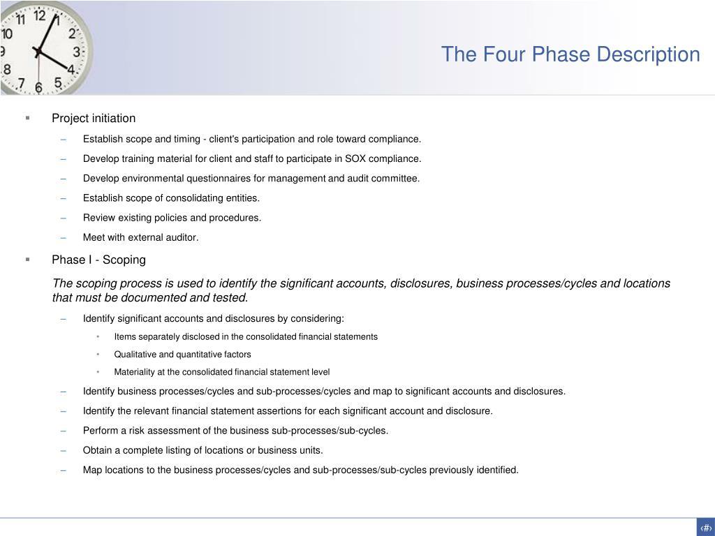 The Four Phase Description