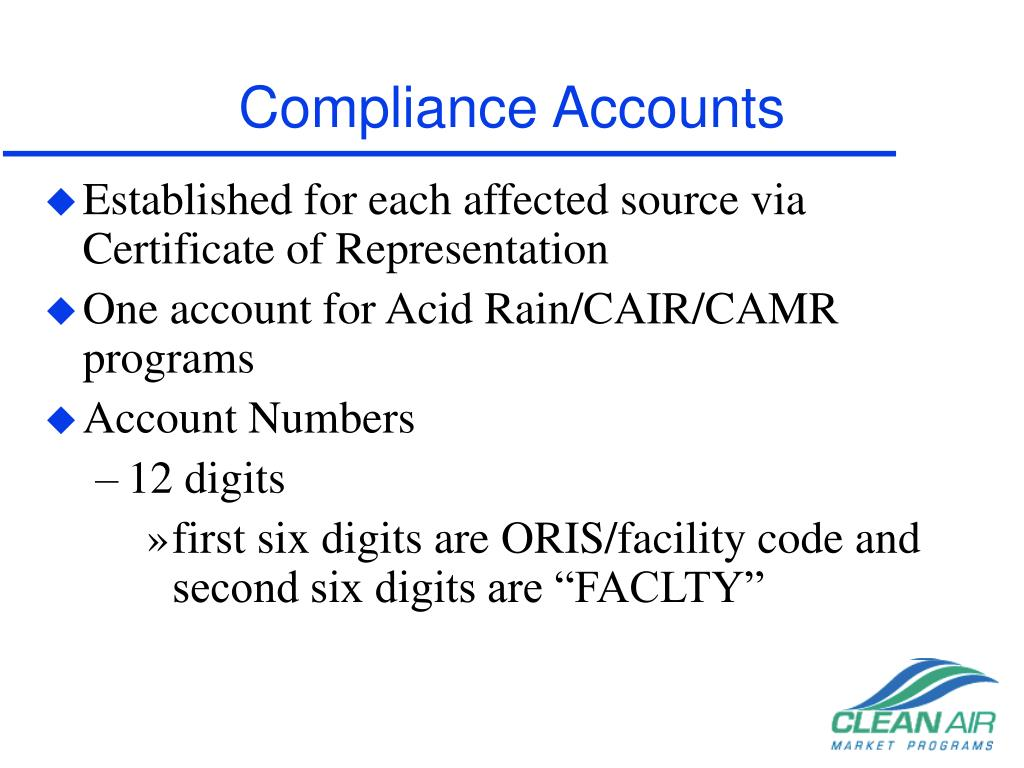 Compliance Accounts