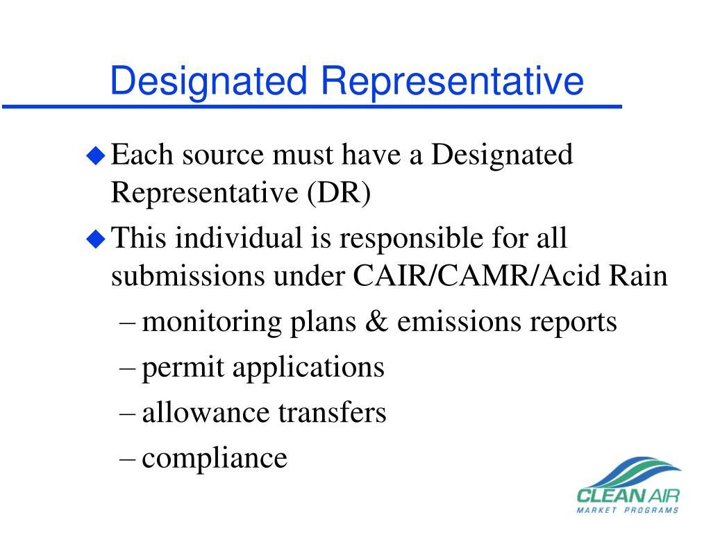 Designated Representative