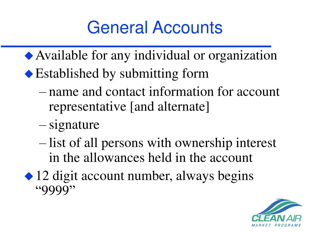 General Accounts