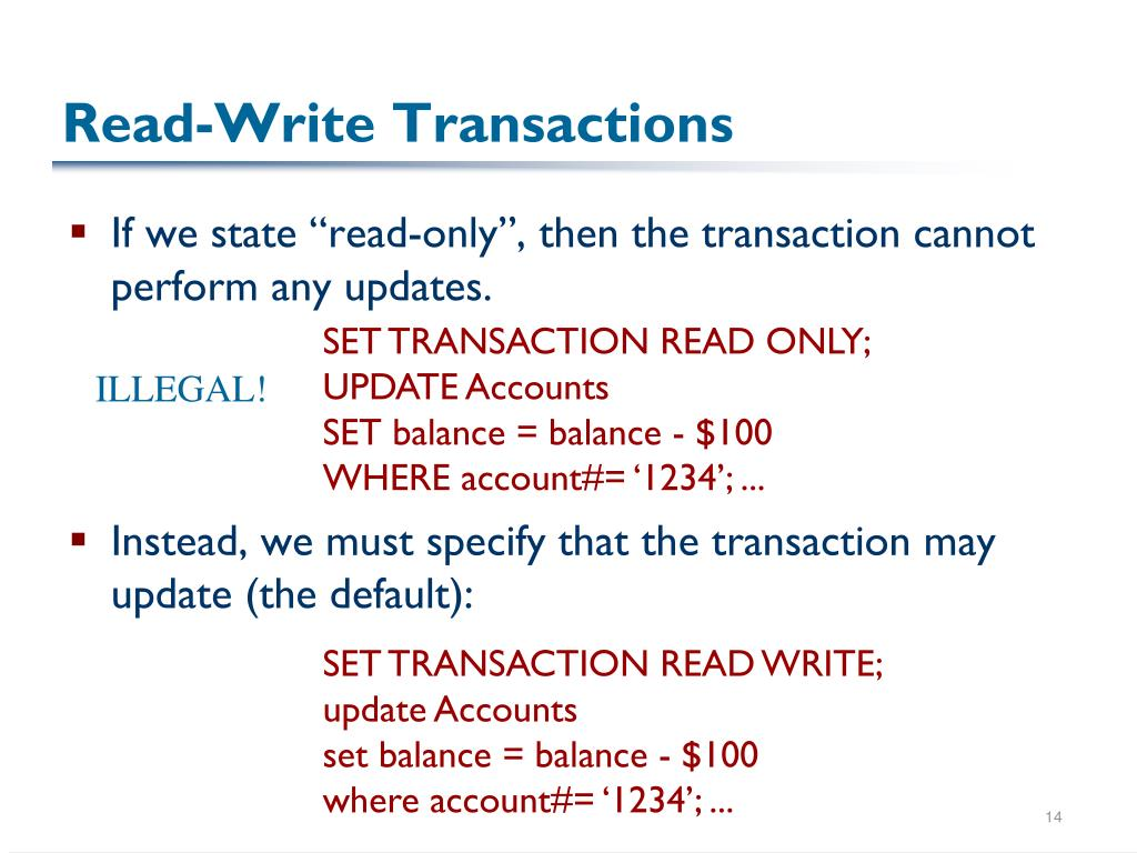 Read-Write Transactions