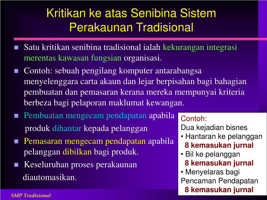 Kritikan ke atas Senibina Sistem Perakaunan Tradisional