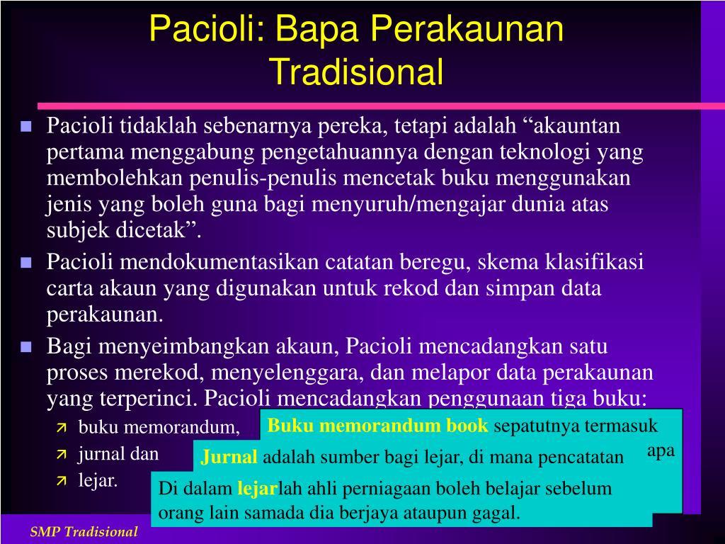 Pacioli: Bapa Perakaunan Tradisional