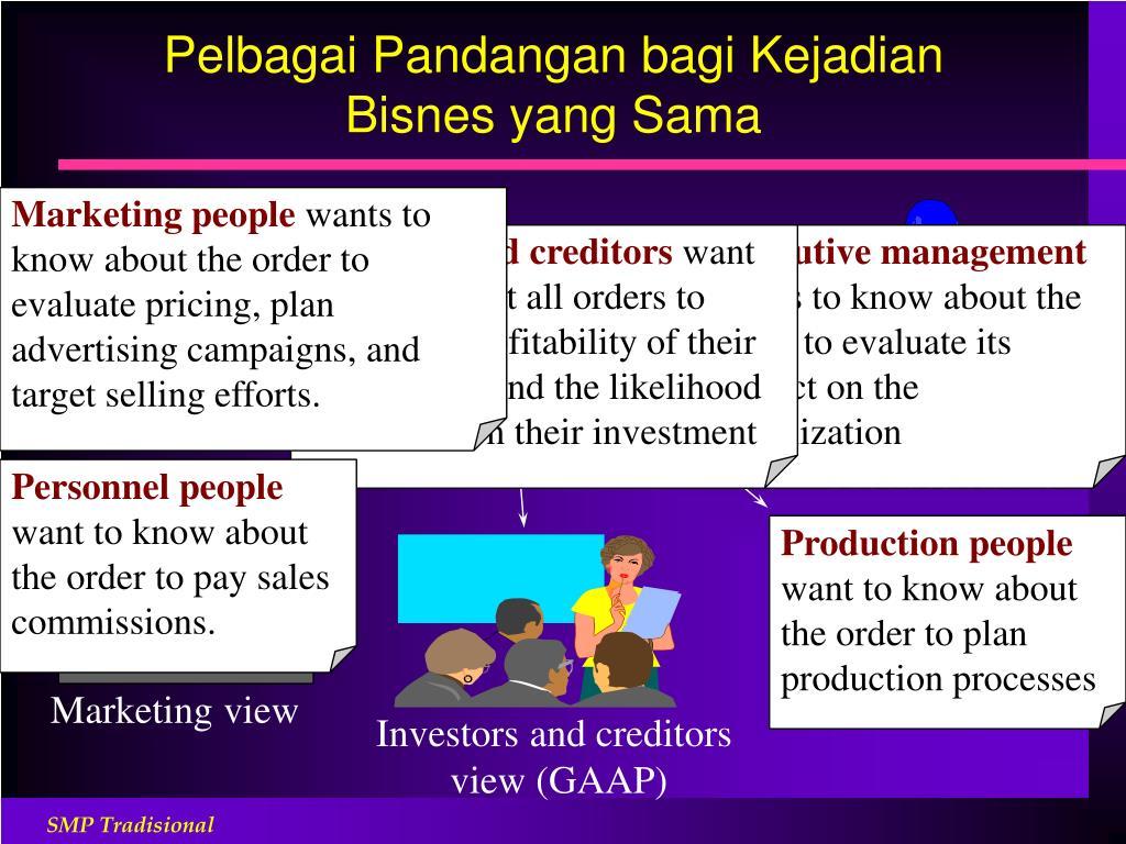 Pelbagai Pandangan bagi Kejadian Bisnes yang Sama