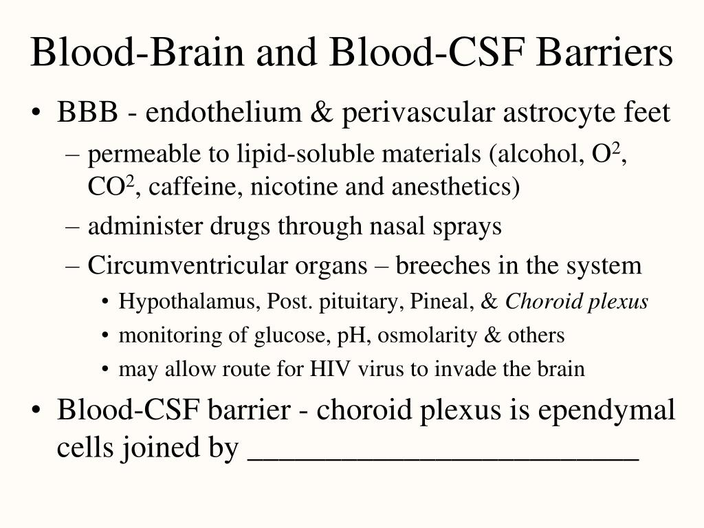 Blood-Brain and Blood-CSF Barriers