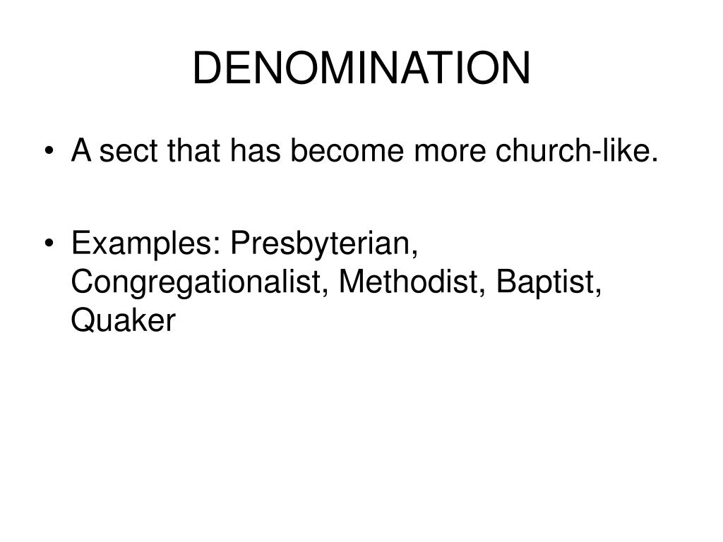 DENOMINATION