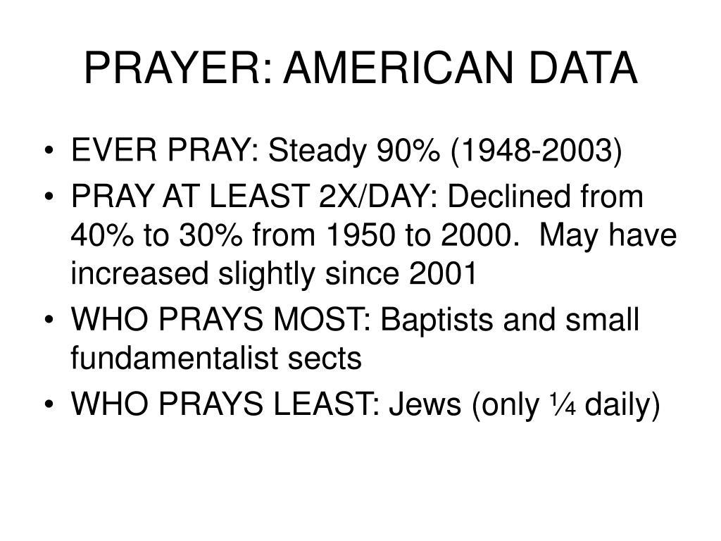 PRAYER: AMERICAN DATA