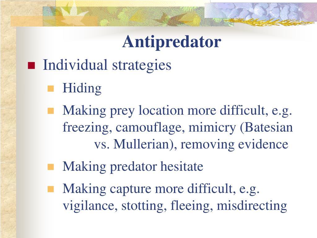 Antipredator