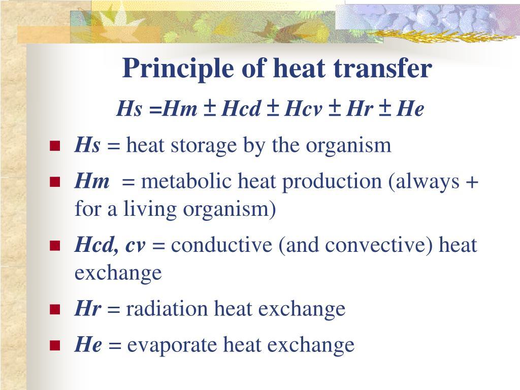 Principle of heat transfer