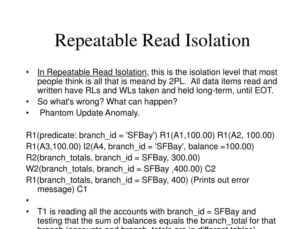 Repeatable Read Isolation