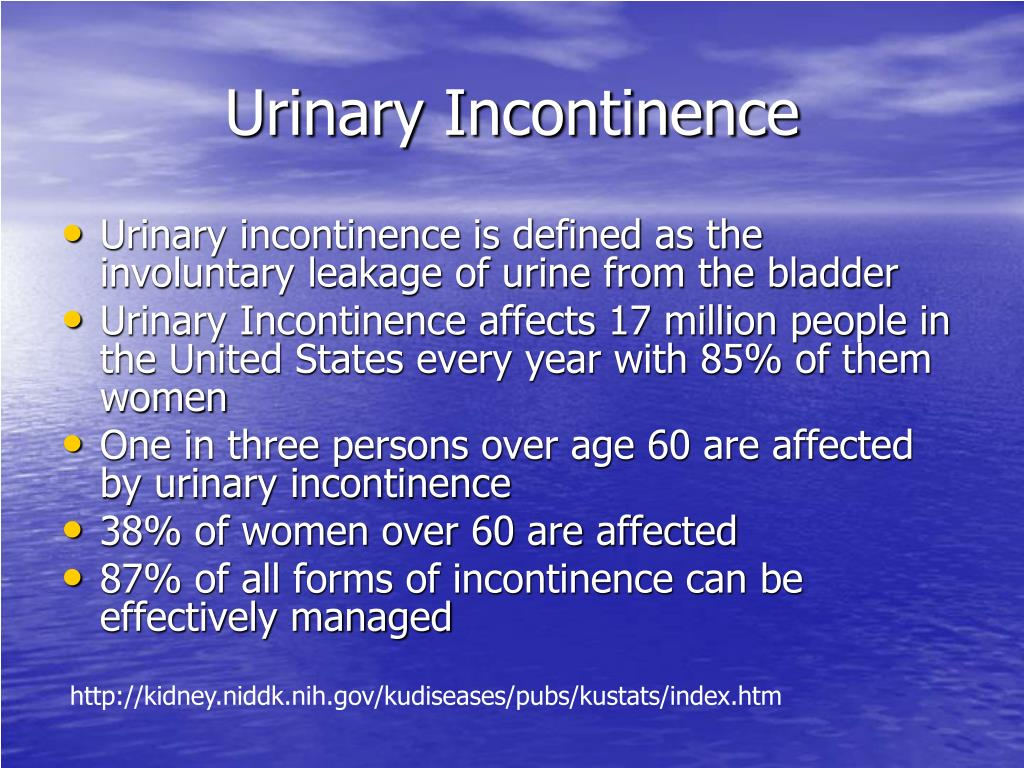 dating with urinary incontinence The urinary incontinence support group is a community of patients, family members and friends dedicated to dealing with urinary incontinence, together.