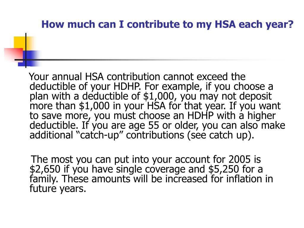 How much can I contribute to my HSA each year?