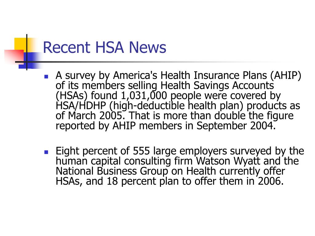 Recent HSA News