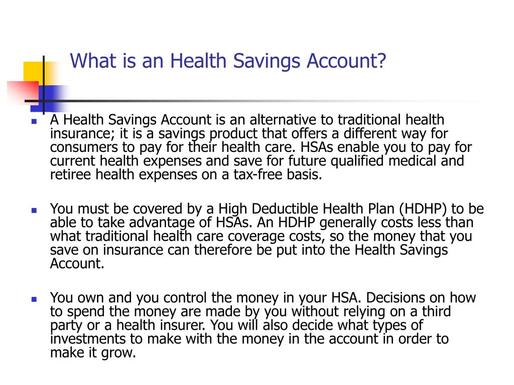What is an Health Savings Account?