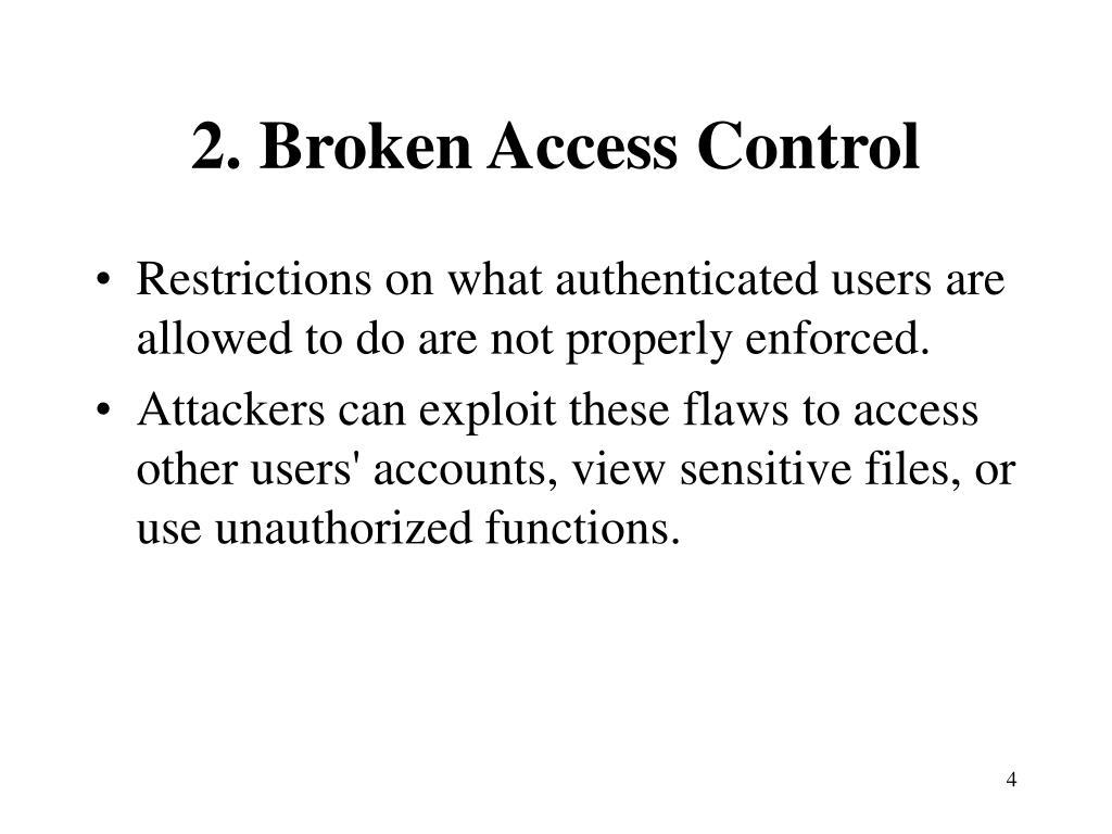 2. Broken Access Control