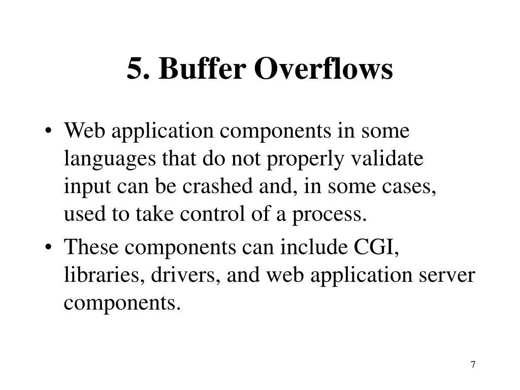 5. Buffer Overflows