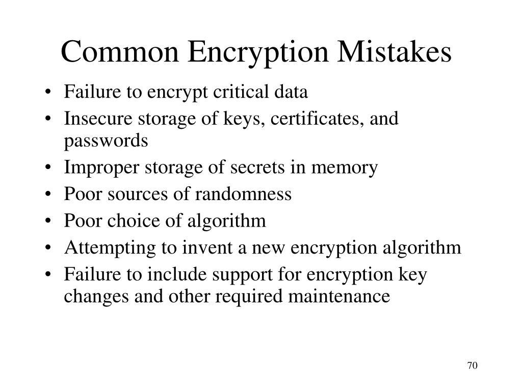 Common Encryption Mistakes