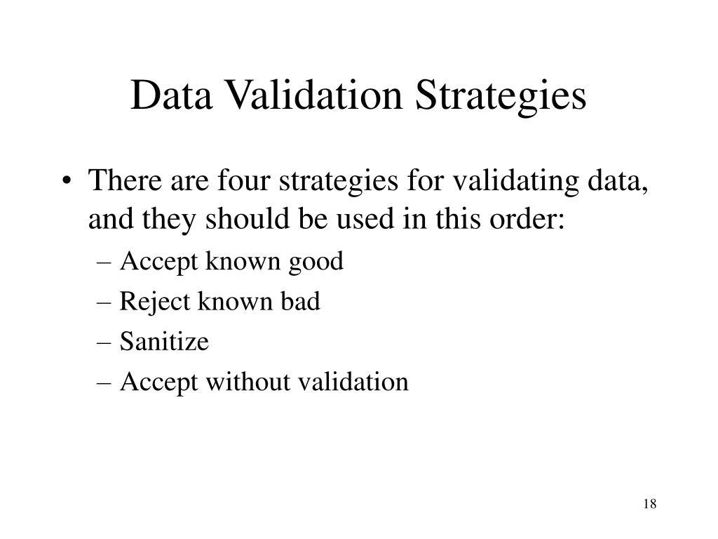 Data Validation Strategies