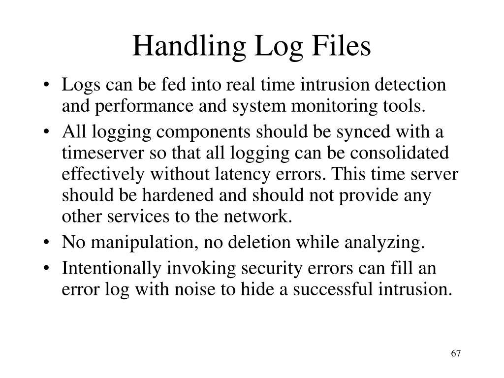 Handling Log Files