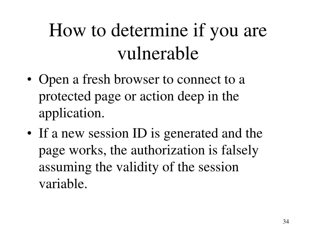 How to determine if you are vulnerable