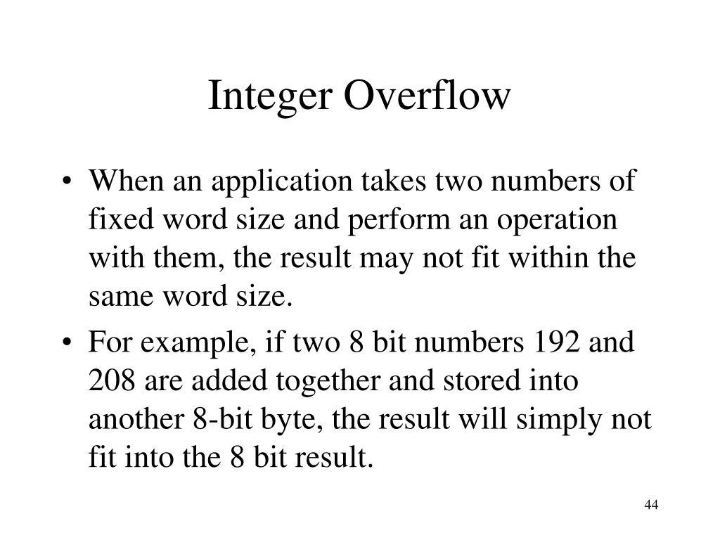 Integer Overflow