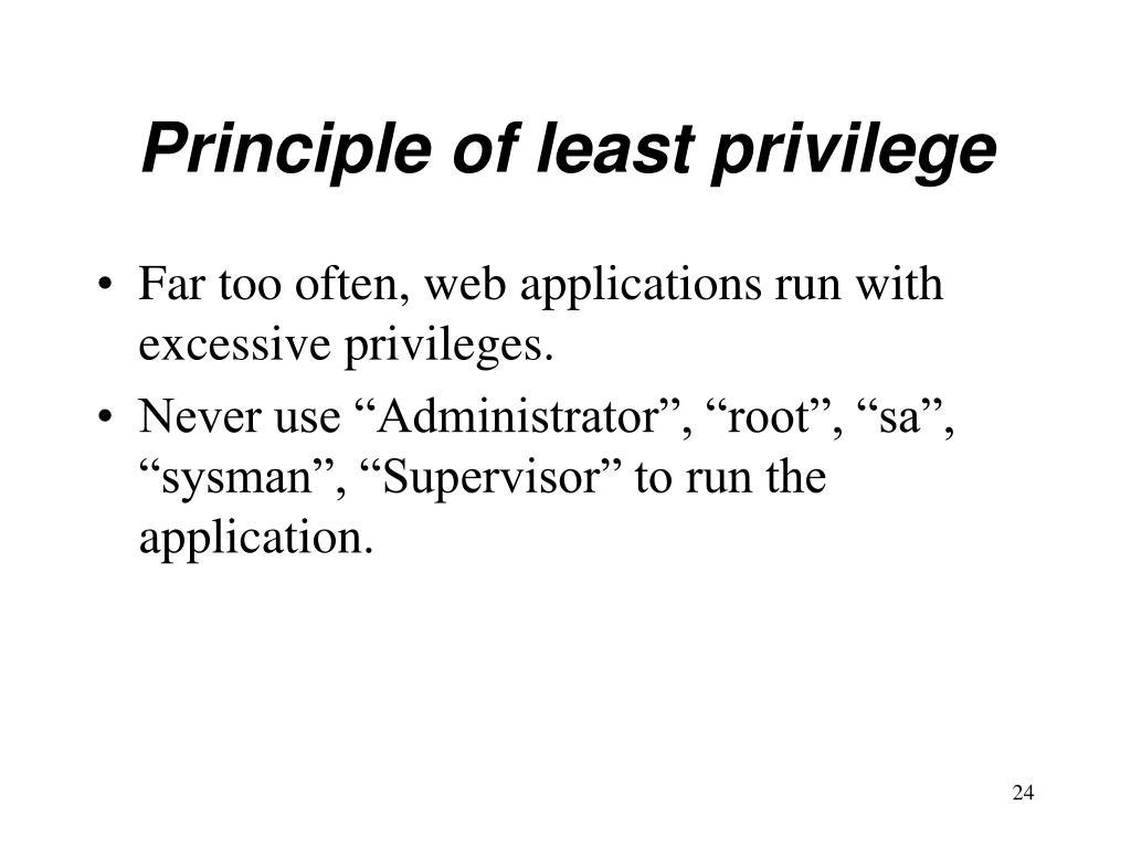 Principle of least privilege