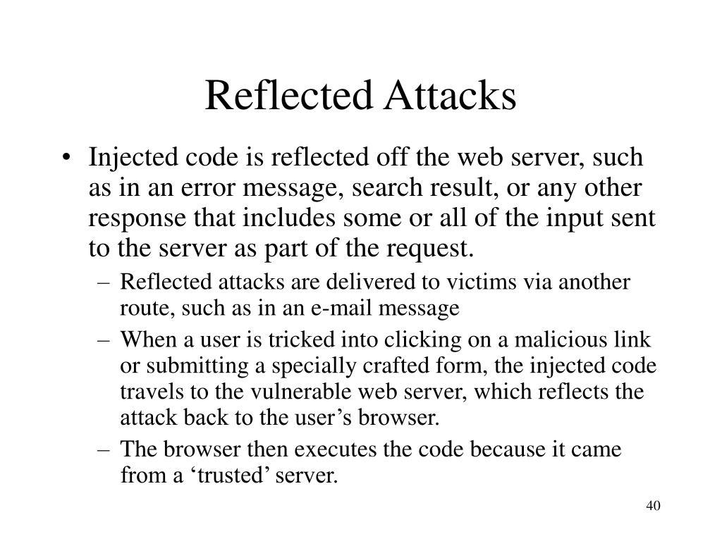 Reflected Attacks