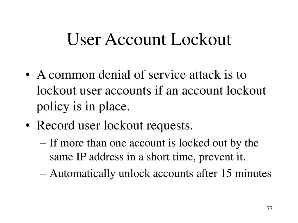User Account Lockout