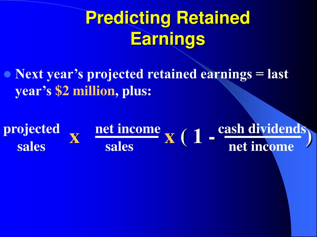 Predicting Retained Earnings