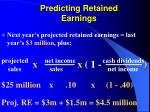 predicting retained earnings20