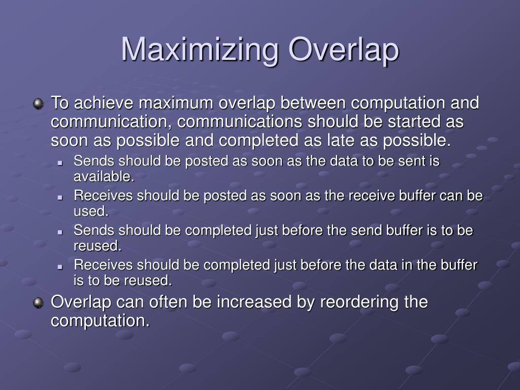 Maximizing Overlap