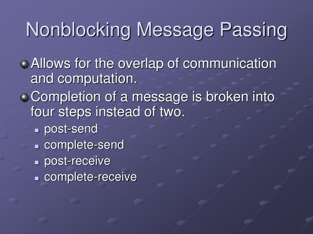 Nonblocking Message Passing