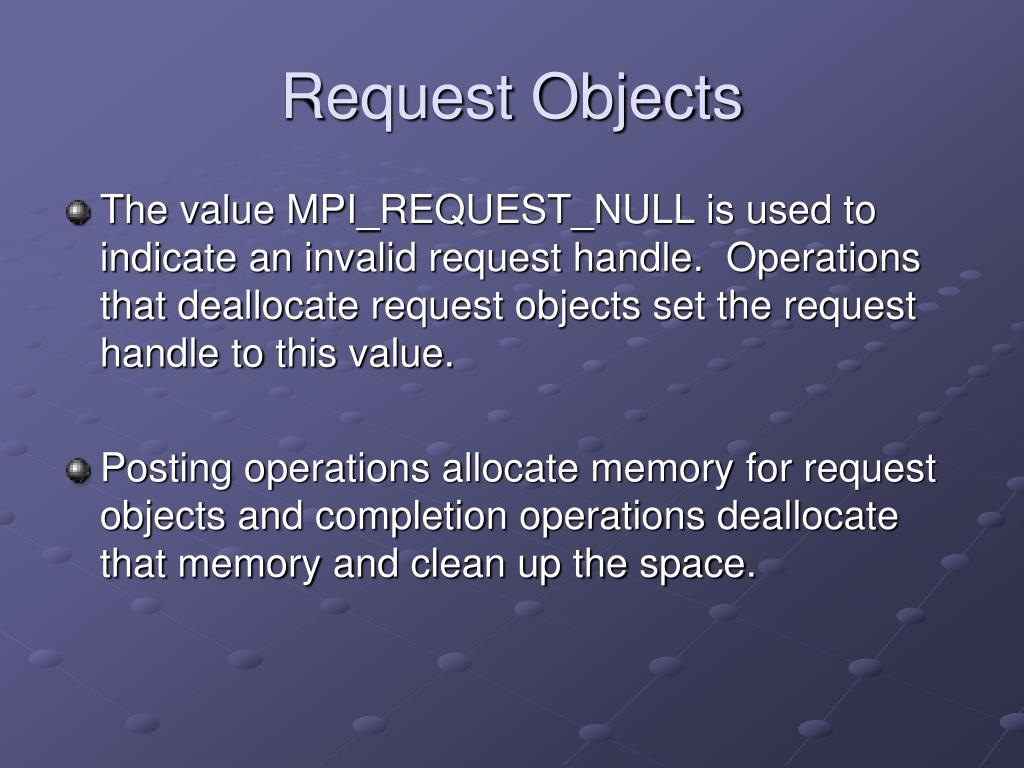 Request Objects