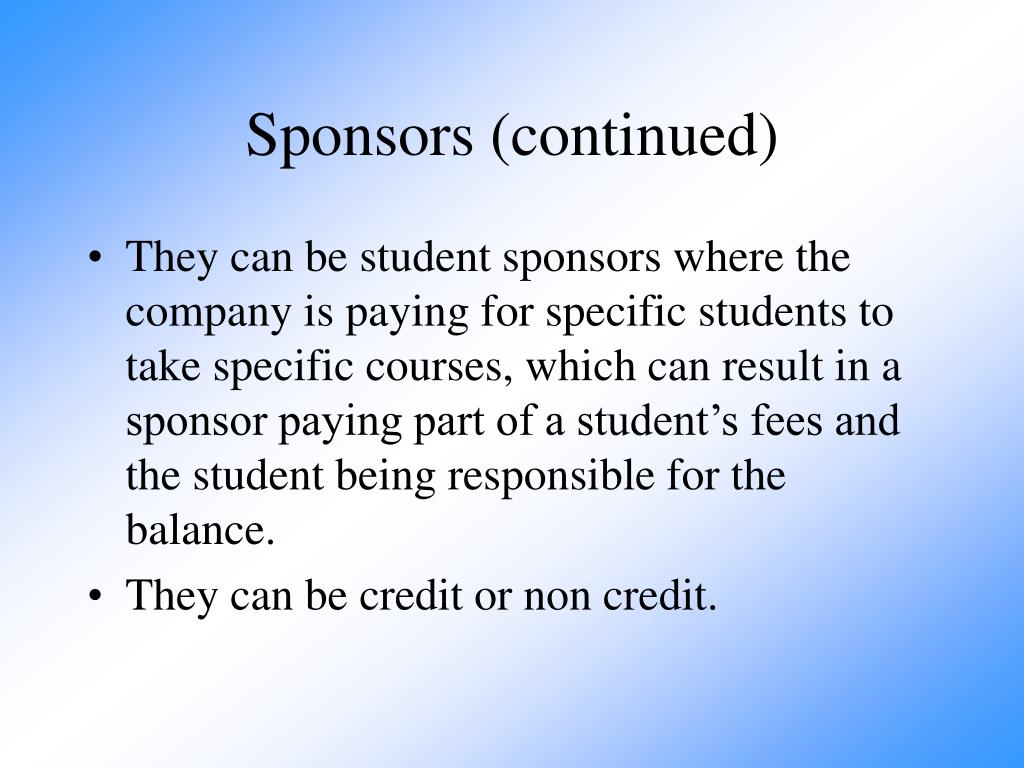 Sponsors (continued)