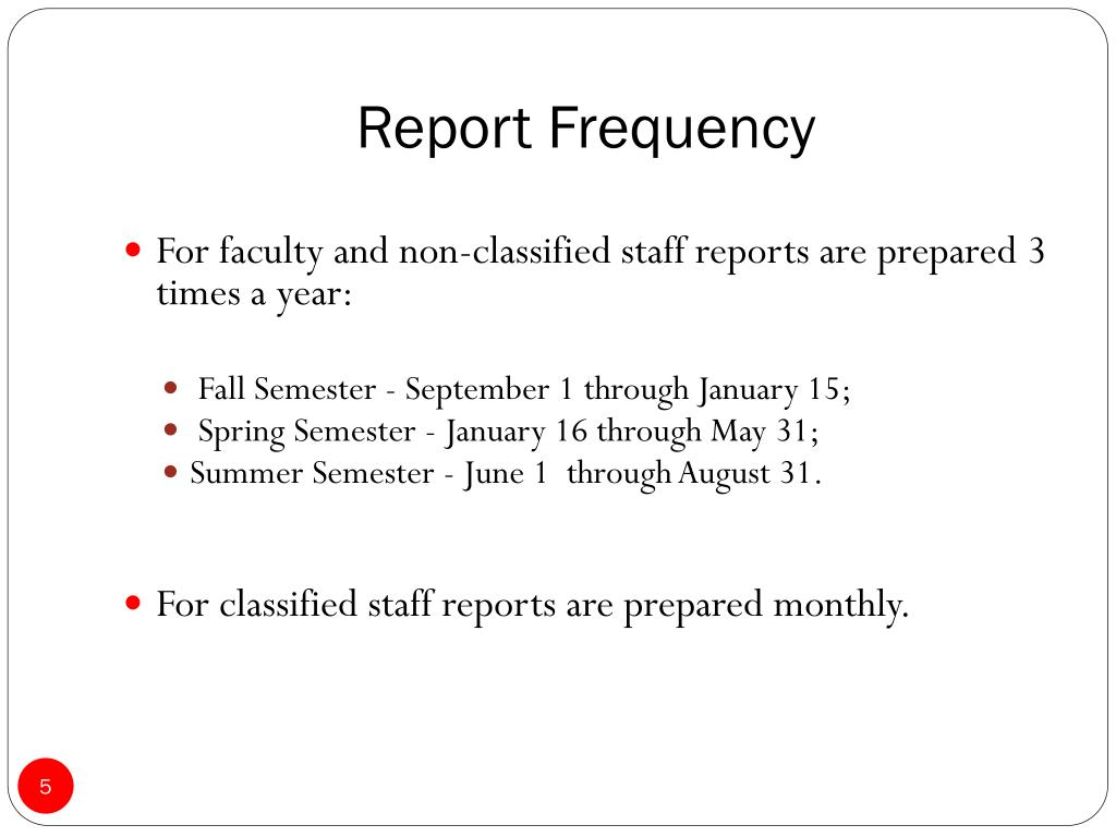 Report Frequency