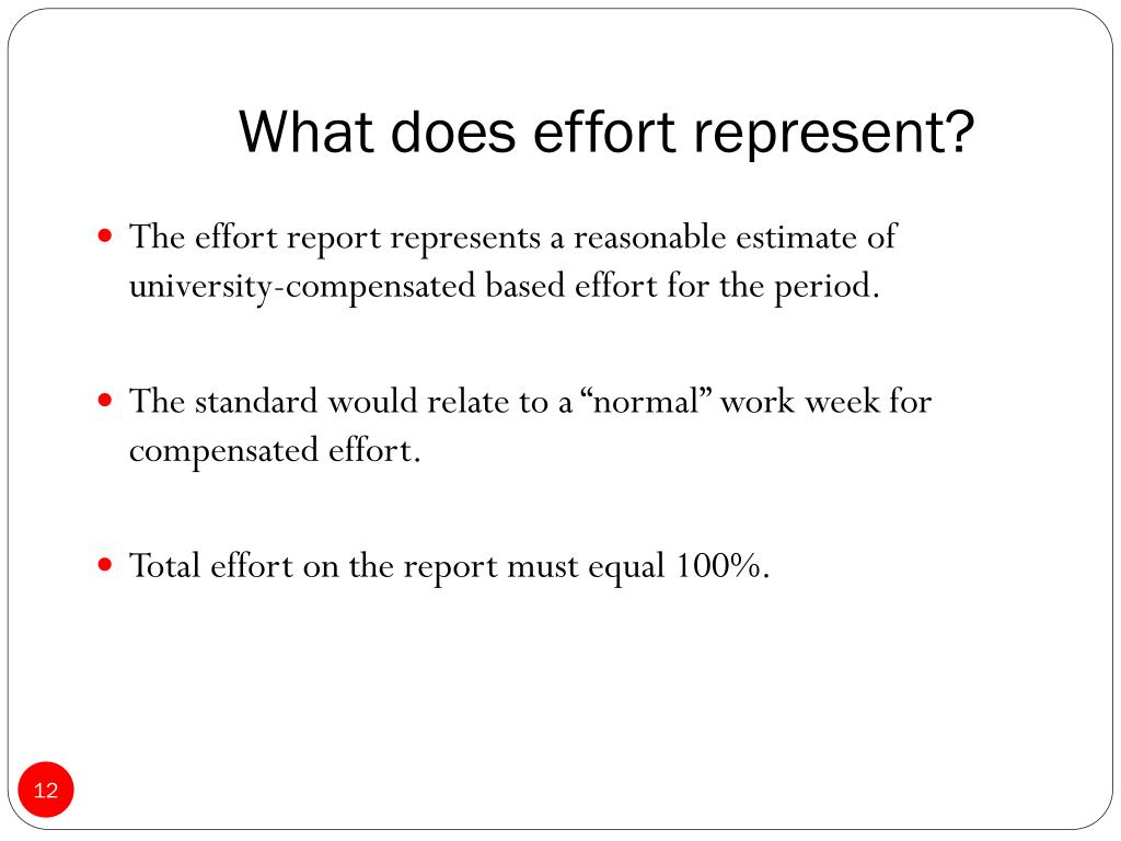 What does effort represent?