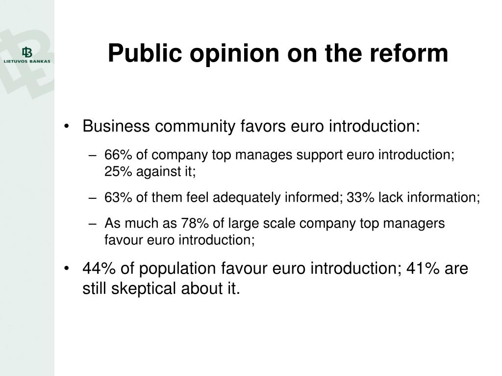 Public opinion on the reform