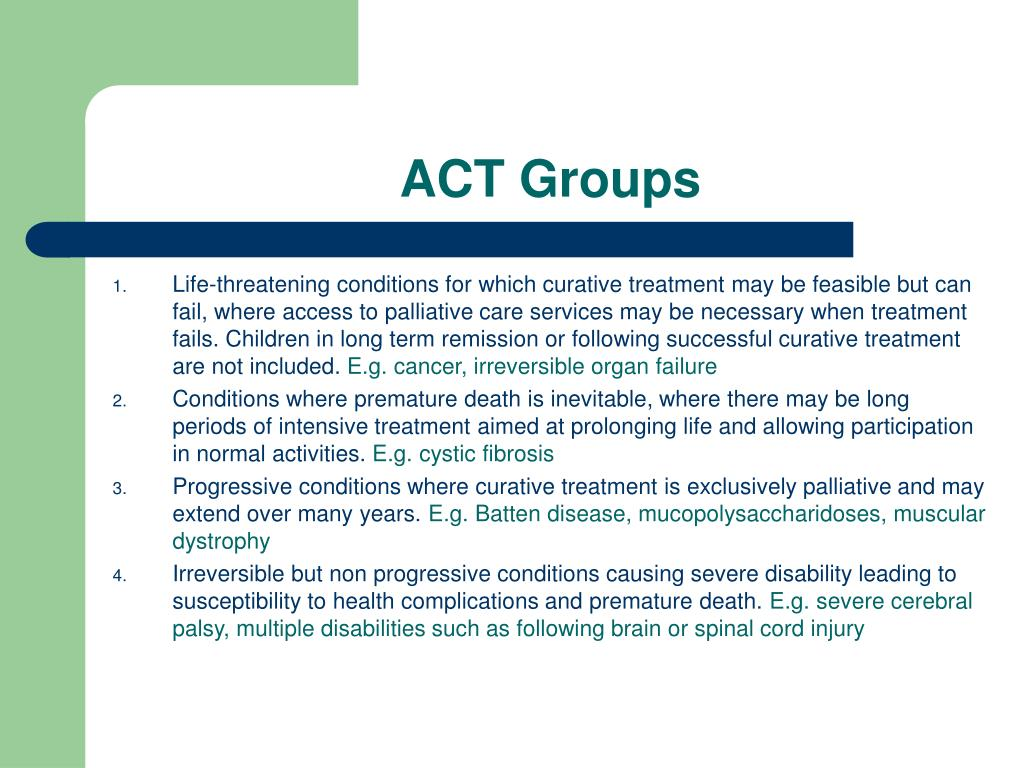 ACT Groups