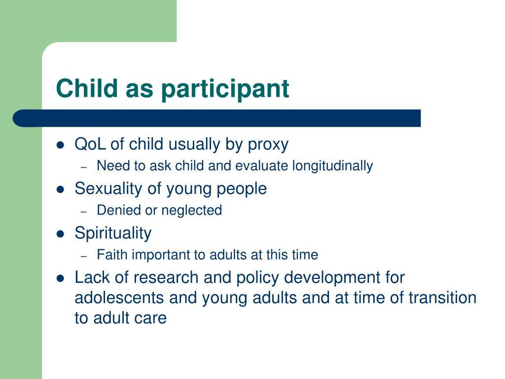 Child as participant