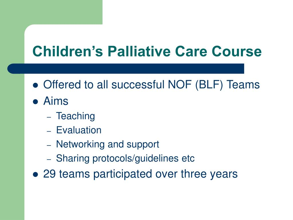 Children's Palliative Care Course