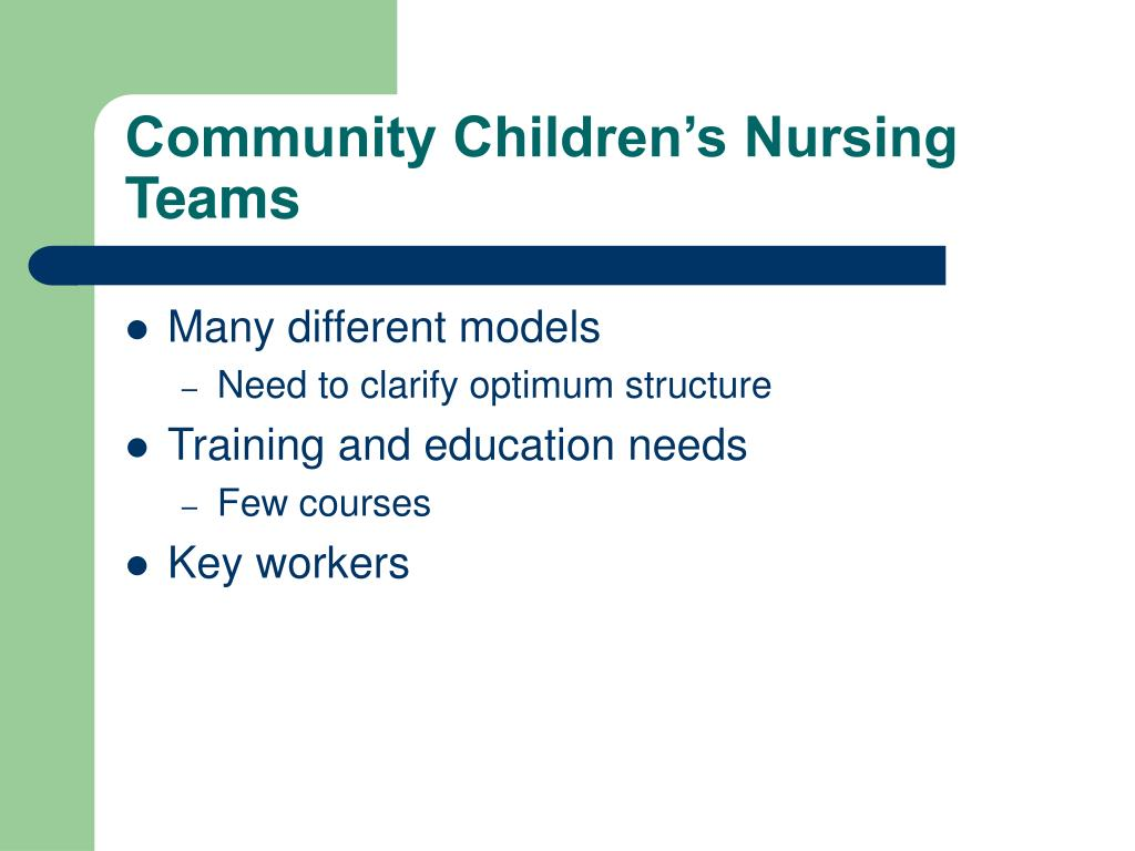 Community Children's Nursing Teams